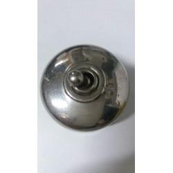 Antiguo interruptor porcelana y latón