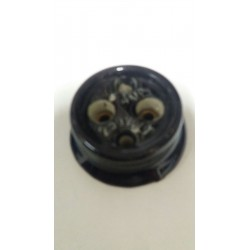 Antigua base enchufe de porcelana Ref.Ng